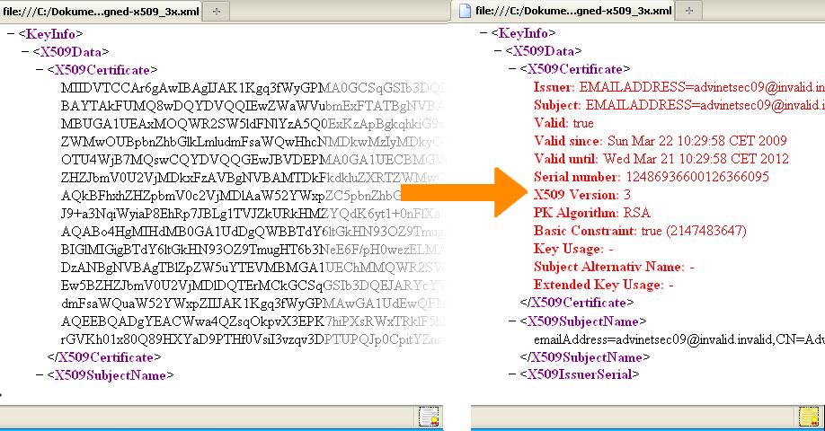 XXCV - XML X.509 Certificate Visualizer / Firefox Plugin | [ESSE ...
